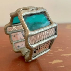 Stained Glass Cuff Bracelet, Artisan Made, $25